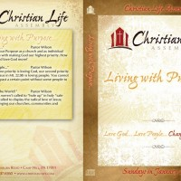 Living with a purpose DVD Case